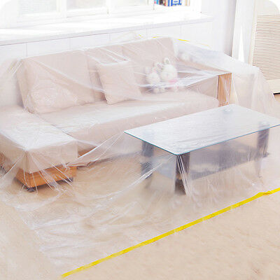Furniture Protection Cover Plastic Storage Bag Lounge Couch Sofa Bed Protector