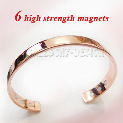 Copper Bracelet Arthritis Bio Pain Relief Pattern Magnetic Bangle Unisex Uk