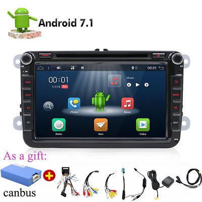 Doppel 2 DIN Autostereo Android 7.1 Car Radio Für VW PASSAT GOLF5 SEAT POLO RCD