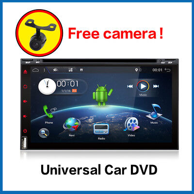 Autoradio 6.95'' Android 6.0 2 Din DVD CD GPS WIFI BT FM USB MP3 Map+CAM Any Car