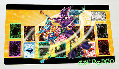 F2032n Free Mat Bag Yugioh Dark Magician Girl & Dark Magician TCG Playmat New