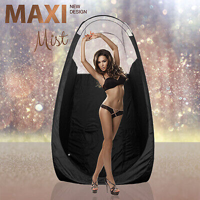 MaxiMist - Noir Spray Tan Tente / Pop-Up Cabine - noir - Transparent édition