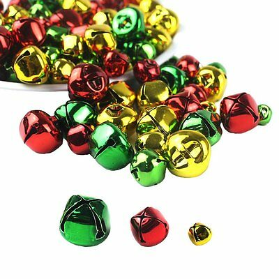 Whonline 150pcs Colorful Christmas Metal Bells Craft for Festival Decoration DIY