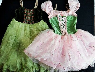 Lot Of 2 Dancewear Halloween Costumes Revolution Secret Garden Renaissance SA MA