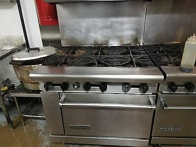 Very nice commercial 6 burners range combo with oven