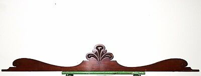 Carved Wood Pediment Antique French Architectural Crown Salvage Panelling Trim