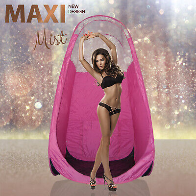 MaxiMist - Black Spray Tan Tent / Pop Up Booth - Pink - Clear View Edition