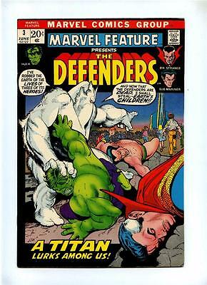 Marvel Feature #3 - Marvel 1972 - VFN- - Defenders Ends in This Series