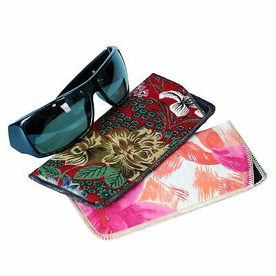 2 x Glasses Spectacles & Sunglasses Storage Cover Soft Fabric Case