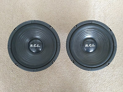 R.C.L woofer (set of two), 75 watts. 92dB, 8""