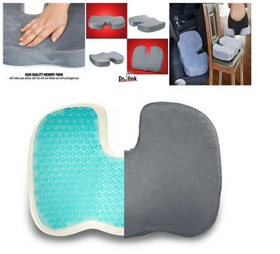 Truck Driver Seat Cushion Memory Foam Pain Relief Tailbone Support Large Pillow