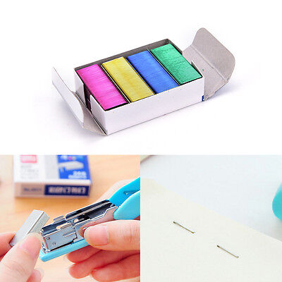 1Pack 10mm Creative Colorful Stainless Steel Staples Office Binding Supplies ESU
