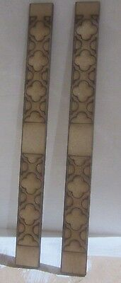 Dolls House 12th scale Gothic Wall Panelling No6  upright 61/4  MDF6Tall  x 2