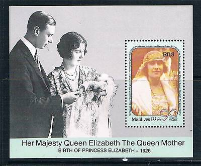 Maldive Is 1990 Queen Mother 90th Birthday MS SG 1399 MNH