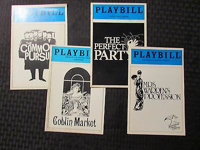 PLAYBILL Magazine LOT of Mrs Warren / Perfect party / Goblin Market / Common