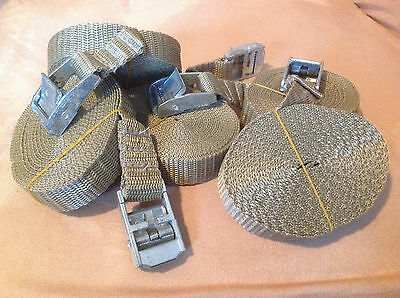 72 Nylon Tie Down Straps- Metal Spring Clasp W/teeth, 72 Per Package  Deal!