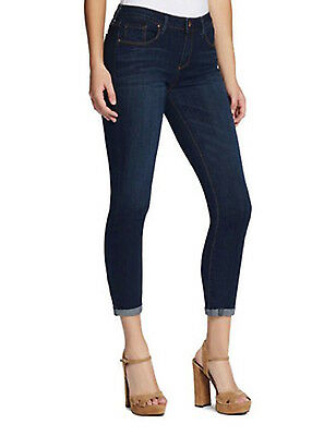 Jessica Simpson Womens Forever Rolled Crop Skinny Jeans Soft Stretch Indigo 4/27
