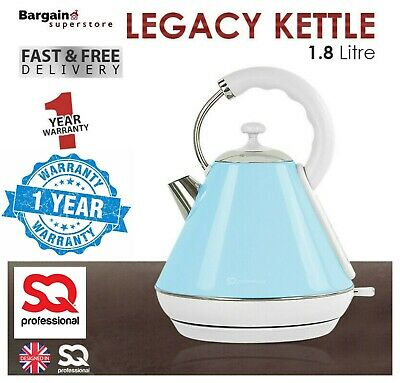 1.8L Cordless Electric Swivel Kettle Tea Coffee Water Fast Boil Light Blue 2200W