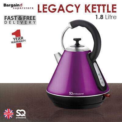 1.8L LED Cordless Electric Swivel Kettle Tea Coffee Water Fast Boil Purple 2200W
