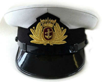 ROYAL UK MERCHANT NAVY Officer HAT CAP NEW MOST SIZES HI QUALITY CP MADE