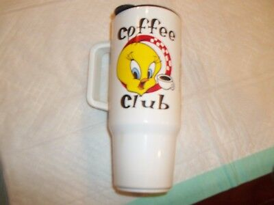 1998 Warner Bros., Looney Tunes Tweety Bird Travel Mug plastic