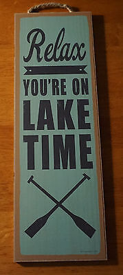 On Lake Time by Sparx Studio Cabin Vacation House Poster 20x16 DECOR ART PRINT