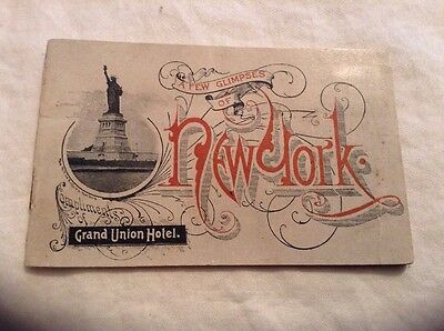 Antique Vintage Grand Union Hotel Booklet Of New York City 1880's