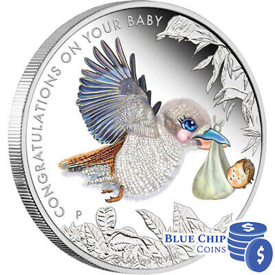 2013 50c Newborn Baby 1/2oz Silver Proof Coin PERTH MINT