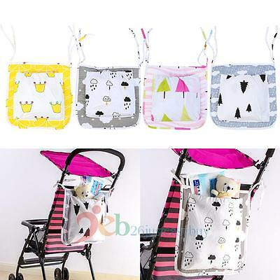 Hanging Bag Baby Kids Carriage Storage Bag Cot Bed Crib Organizer Diaper Pocket