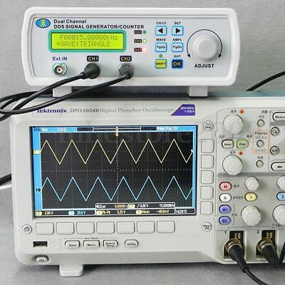 Digital DDS Dual-channel Signal Generator Source Frequency Meter 25MHz Australia