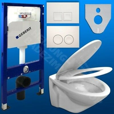 GEBERIT Duofix Front-wall Element SET WC wall Nano Toilet Seat Soft-Closing