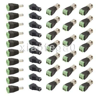 10 Set Coax Cat5/Cat6 to BNC Video Balun Connector Adapter for Camera CCTV In CA
