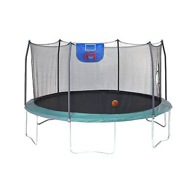 Skywalker Trampolines Jump N' Dunk with Safety Enclosure and Basketball Hoop ...
