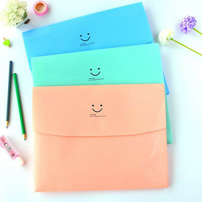 Cute Smile A4 PVC Bag School Office Supplies File Folder Bag Stationery