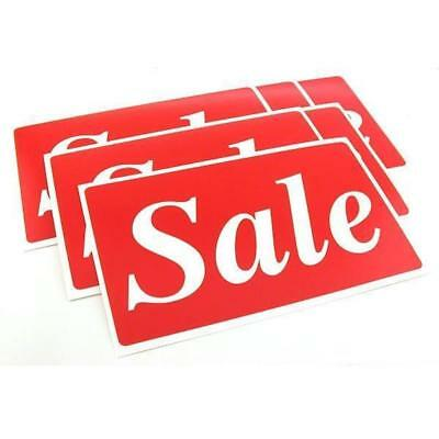 "6 Sale Display Signs Window Wall Showcase Message Unit 11"" x 7"""