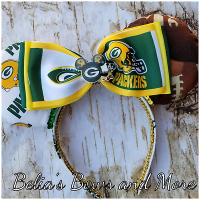Green Bay Packers Mouse Ears, Handmade Item