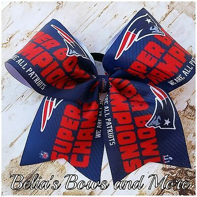 Super Bowl 51 Champs New England Patriots Cheer style hair bow