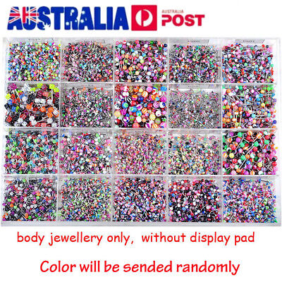 Wholesale 110pcs Bulk Lots Body Piercing Eyebrow Jewellery Belly Tongue Bar Ring