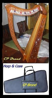 "Cp Brand New 22 String 33"" High Harp With Levers Free Carry Bag & Ship In Usa"