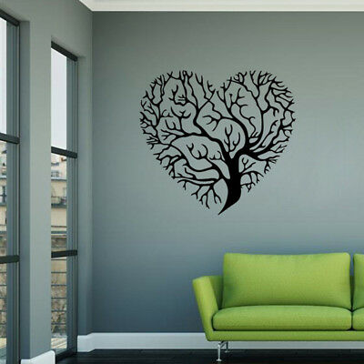Love Tree Wall Art Stickers Removable Vinyl Decal Mural Bedroom Decor Gift