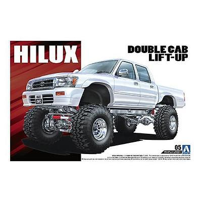 1/24 AOSHIMA 005097 LN107 HILUX PICKUP DOUBLE CAB '94 Plastic Model Car Kit