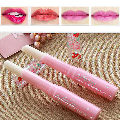 Charm Strawberry Lip Balm Magic Temperature Changing Color Moisturizer Stick