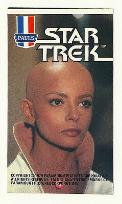 1979 Australian Star Trek Tmp Movie Lt Ilia Ice Cream Sticker Mint Unused Psa It