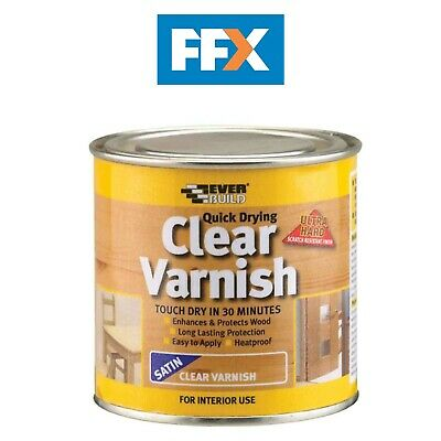 Everbuild WVARCLS02 Quick Dry Wood Varnish Satin Clear 250ml