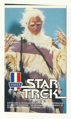 1979 Aust Star Trek Tmp Movie Hairy Alien Ice Cream Sticker Mint Unused Psa It!