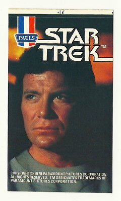 1979 Aust Star Trek Tmp William Shatner Kirk Ice Cream Sticker Mint Unused Psa!!