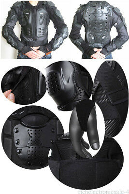 Motorcycle Full Body Armor Shirt Jacket Dirt Bike Back Shoulder Protector Gear