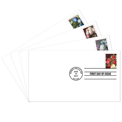 USPS New Flowers from the Garden First Day Cover Set of 4
