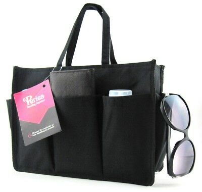 Periea Handbag Organiser Insert - Kristine - Black - Pink - 3 Colours Available