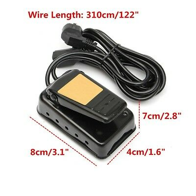 """AC 220V Black Iron General Variable Speed Foot Pedal Switch With 122"""" Wire"""